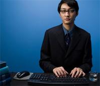 Reference desk attendant